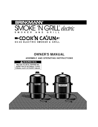 Brinkmann Electric Patio Grill Manual by Smoker Users Guides