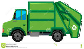 Rubbish Truck With Recycle Sign Stock Vector - Illustration Of ...