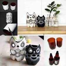 Plastic Bottles Owl Decorations Praktic Ideas