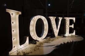 Light Up Letters Sydney Wedding Planning Event Hire