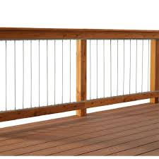 Horizontal Deck Railing Ideas by Vertical Stainless Steel Cable Railing Kit For 42 In High