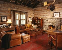 Adorable Warm Riverside House In Rustic Style Antique Furniture Ruby River Family Room Decor