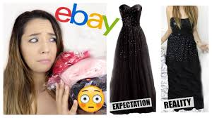 Halloween Contact Lenses Ebay by Trying On Prom Dresses I Bought From Ebay Thoserosiedays Youtube