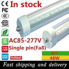100pcs fa8 single pin 8ft led light 2 4m 8ft t8 led