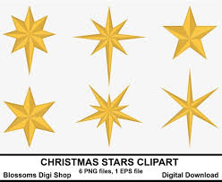 Christmas Stars Clipart Gold Star Elements