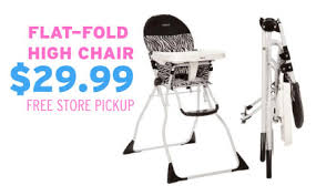 cosco flat fold high chair 29 free store pickup simple