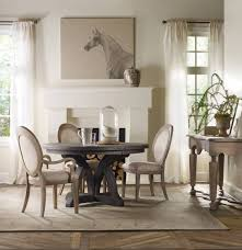 Round Dining Room Sets With Leaf by Hooker Furniture Dining Room Corsica Dark Round Dining Table W 1
