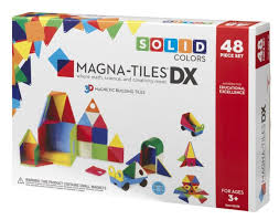 Valtech Magna Tiles 100 by Magna Tiles Dx 48 Piece Solid Colors