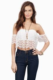 white crop top crochet crop top off shoulder crop top white