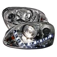 vw jetta 2005 2009 clear projector headlights with led daytime