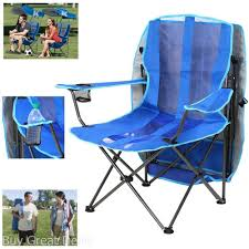 Details About Oversized Camping Chair With Canopy Blue Folding Outdoor  Sports Portable Seat