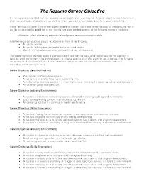 Resume Example Skills Sample General Samples Templates Objective Template Examples For