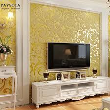 paysota luxus blätter tapete wasserdicht geprägte gold silber wohnzimmer wände wand papier rollen 3d papel de parede