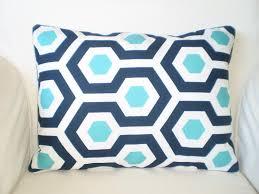 Decorative Outdoor Lumbar Pillows by Outdoor Navy Blue Aqua Pillow Covers Throw Cushions Lumbar