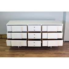 Johnson Carper 6 Drawer Dresser by White Lacquered Mid Century Dresser By Johnson Carper Chairish