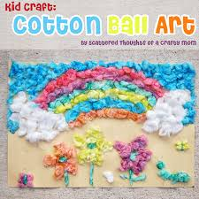 Kid Craft Cotton Ball Art