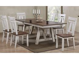 Winslow 7-Piece Two-Tone Refectory Table Set By Bernards At Royal Furniture