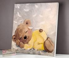 cadre chambre bébé tableau nounours pour déco de chambre d enfant bébé vente de