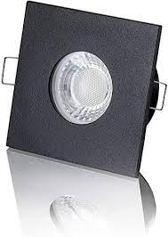lambado led spots für badezimmer ip65 in schwarz moderne deckenstrahler einbaustrahler für außen inkl 230v 5w gu10 strahler warmweiß hell