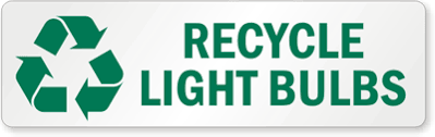 Light Bulb Recycling Labels