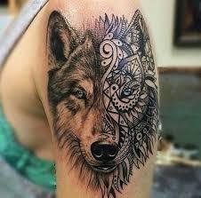 Description Tribal Wolf Tattoo