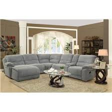 Cindy Crawford Mackenzie Sectional Sofa by Coaster Mackenzie Silver 6 Piece Reclining Sectional Sofa With