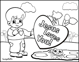High Resolution Coloring Free Christian Pages For Kids Valentine Picture Children To Color Colouring
