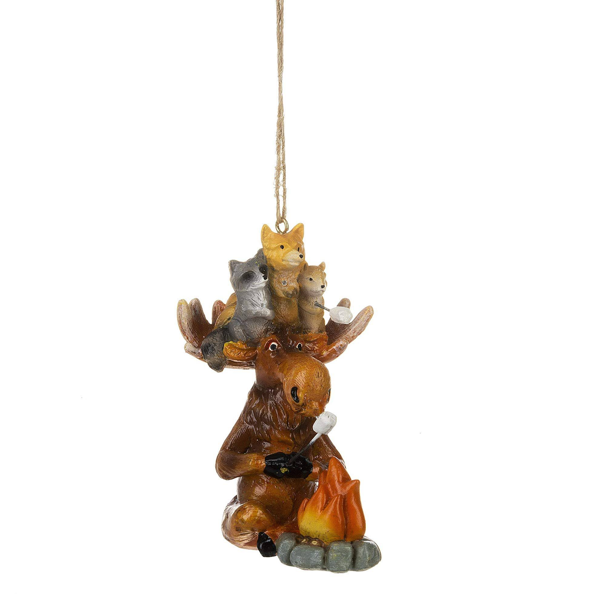 Moose and Campfire Ornament