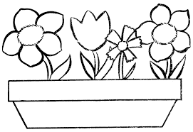Full Size Of Coloring Pagecolor Pages Flowers Page Color Flower Pot