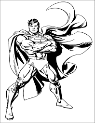 Unbeatable Superman Coloring Page