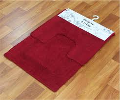 Red Bath Rug Set by Deco Lovers Delux Living Collection Bath Mat Pad Bathroom Bath Mat