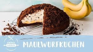 maulwurfkuchen mit banane einfach backen