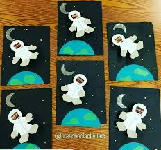 Easy Space Crafts For Preschoolers Could Have The Students Pick A Different Planet To Featur On