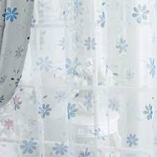 hxb blau topfinel tranparente vorhänge mit ösen