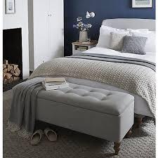Buy John Lewis Croft Collection Skye Ottoman Blanket Box Grey Online At Johnlewis