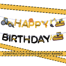 100 Truck Birthday Party Supplies Amazoncom Construction Banner By Aliza