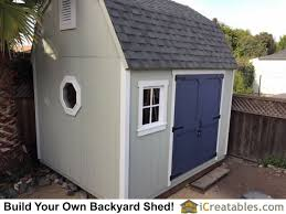 Saltbox Shed Plans 10x12 by 10x12 Barn Shed Plans Gambrel Shed Plans
