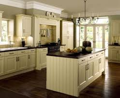 gray metal wall range wood floors with white cabinets