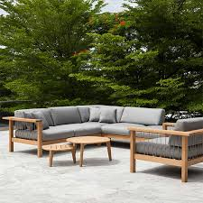 canapé teck jardin canapé d angle droit maro teck cordage argile jardinchic