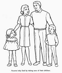 Lofty Design Coloring Pages Of Families Family Sheets Free Sheet