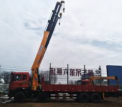 China 26 Ton Straight Arm Truck Mounted Crane Articulated Crane ...