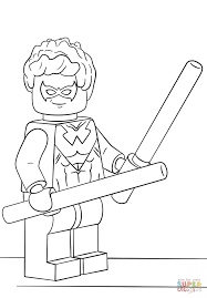 Lego Nightwing Coloring Page With Pages