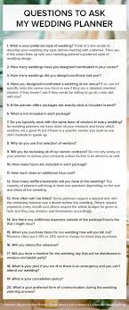 Wedding Advice Questions To Ask Your Planner