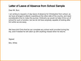 Sample Excuse Letter For Missing School Dtk Templates