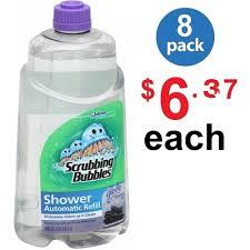 100 Spa 34 SCRUBBING BUBBLES Auto Shower Cleaner Refill Automatic Fl Oz