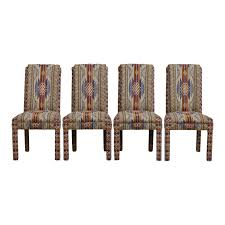 Southwestern Style Parsons Chairs - Set Of 4