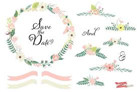 Free Floral Wedding Clipart