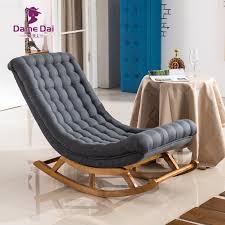 moderne design schaukel sessel stoff polster und holz für home möbel wohnzimmer erwachsene luxus schaukel stuhl chaise