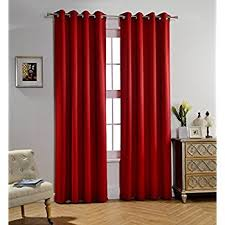 Absolute Zero Curtains Red by Amazon Com Eclipse 10707042x084rby Kendall 42 Inch By 84 Inch