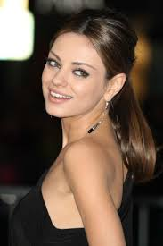 Save Mila Kunis Vintage Retro Brunette Formal Bridesmaid Ponytail For Date Night Like This Hairstyle